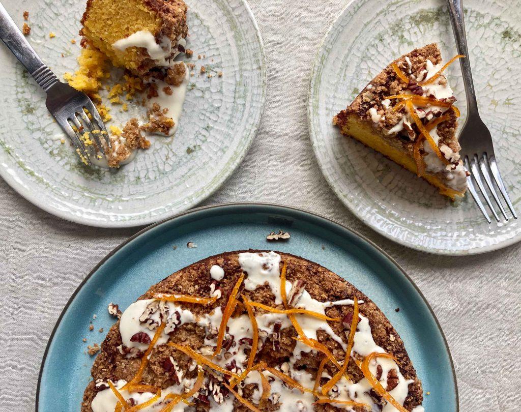 Clementine & Cardamom Crumble Cake