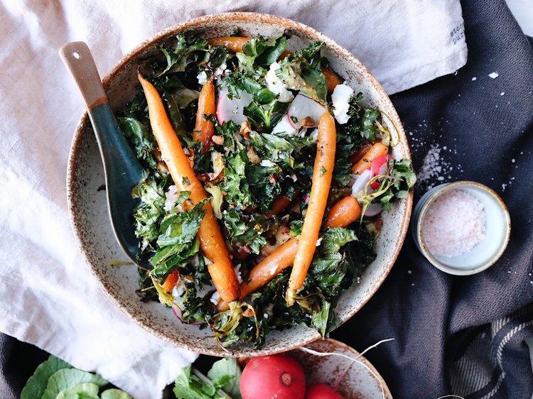 Baby Carrot & Kale Salad